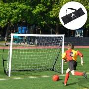 HOMCOM Portería de Fútbol Portátil para Niños y Adultos con Marco de Acero y Bolsa de Transporte - 183x50x122cm