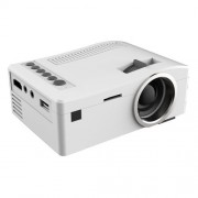 UC18 150 Lumens HD 320 x 180 Digital LED Projector with Remote Control Support USB / SD / VGA / HDMI(White)