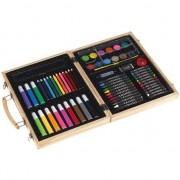 Merkloos Luxe teken/schilderset koffer 66-delig
