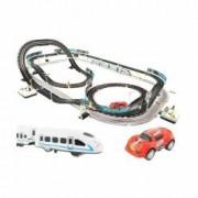 Circuit Electric 2 In 1 115 Piese Si 2 Telecomenzi Cu Masinuta Si Trenulet Electrice