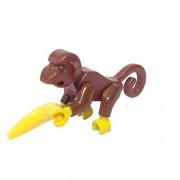 Lego Parts: Land Animal Monkey with Banana (Brown)
