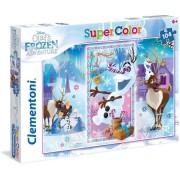 Clementoni puzzle supercolor disney frozen olaf's adventures 27093