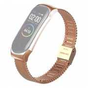 Stainless Steel Watch Wrist Band for Xiaomi Mi Band 4/3 - Rose Gold