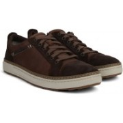 Clarks Lorsen Edge Brown Combi Lea Sneakers For Men(Brown)