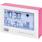 Pachet Mini Statie Meteo cu ceas TREVI ME 3103, Alarma programabila, Termometru, Calendar, Higrometru Digital, Display LED, Fuchsia - TRE00044 + Suport magnetic Tellur MCM3 pentru ventilatie, plastic, Negru