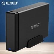 ORICO NS100C3-BK Type-C Aluminum Hard Drive HDD Dock Enclosure USB3.1 to SATA3.0 3.5 in HDD Case - UK Plug
