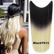Flip in vlasy - 55 cm dlouhý pás vlasů - odstín Black T 613 - Světové Zboží