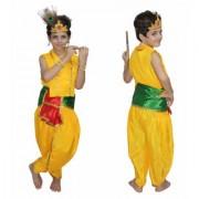 Kaku Fancy Dresses Bal Krishna Costume For Kids Krishnaleela/Janmashtami/Kanha/Mythological Character For Kids School Annual function/Theme Party/Competition/Stage Shows Dress