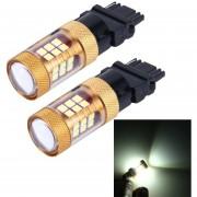 2 Pcs 3156 15W 1300lm 28 Smd-3030 6500K LED Coche Luces De Freno Luz De La Vuelta, DC 12V (luz Blanca)