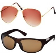 Freny Exim Aviator Sunglasses(Yellow, Orange)
