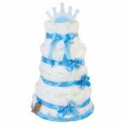 Tort z pieluszek dla chłopczyka