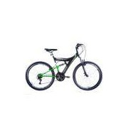 Bicicleta Aro 26 Dupla Suspensão TB300 Preto/Verde Neon - Track Bikes