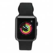Apple Watch Sport (Gen. 1) 42mm Aluminiumgehäuse Spacegrau mit Sportarmband Schwarz Aluminium Spacegrau