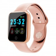 I5 Smart Bracelet 1.33inch Screen Wristband Sleep Heart Rate Monitor Bracelet Bluetooth Fitness Tracker for Android/iOS - Pink