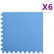 vidaXL Постелки за под 6 бр 2,16 м² EVA пяна сини