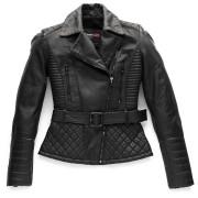 Blauer Trinity Black Ladies Motorcycle Leather Jacket Black L