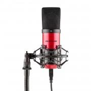 Auna Pro MIC-900-RD, червен, USB, студиен микрофон с кондензатор, кардиоиден, студиен (HKMIC-900-RD)