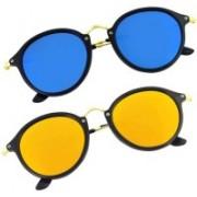 Phenomenal Cat-eye, Round Sunglasses(Blue, Yellow)