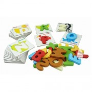 Alphabet ABC Puzzles Wooden Letters Toys Alphabet Animal Match Puzzle Preshcool Learning Toy