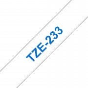 Tape 12mm TZe-233 Blå på Vit