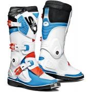 Sidi Flame Niños botas de Motocross Blanco Rojo Azul 39