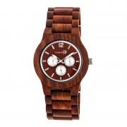 Earth Wood Bonsai Bracelet Watch w/Day/Date - Red ETHEW5303