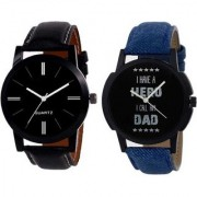New Stylish Attractive Design Set Of Two Combo Watch For Men Boys