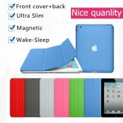 Nice hard back cover+magnetic slim pu leather case for apple ipad air 1 smart cover case flip thin ipad 5