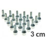 Prezoane roata M12X1.5, 3 cm Bmw Serie 5 560l(e60) 2003 > 03/2010