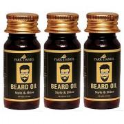 Park Daniel Organic Beard Oil combo pack of 3 No.35 ml Bottles(105 ml)