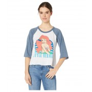Chaser The Little Mermaid x Chaser Blocked Jersey 34 Sleeve Raglan Tee WhiteReef