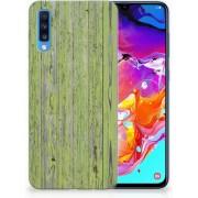 Samsung Galaxy A70 TPU Backcover Design Green Wood