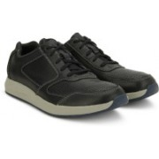 Clarks Sirtis Mix Black Leather Casuals For Men(Black)
