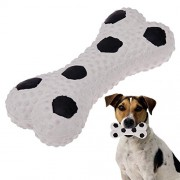 Rrimin Funny Pets Toy Dog Puppy Chew Toy Mini Bone Shape Chewing Tool(White)