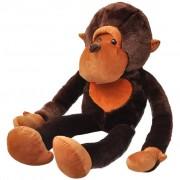 vidaXL Maimuță drăgălașă din pluș de jucărie 175 cm, maro