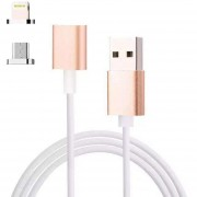 Louiwill 2 En 1 Fuerte Adaptador Magnético Micro Usb Y Lightning 3.3 Pies Mejor Cable De Sincronización De Carga Y Datos Cable Con Indicador LED Para Dispositivos Android Y Apple