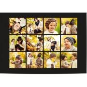Optimalprint Kollageposter, 1 st, ram, fotoram, photo poster, affisch, svart, collage, Optimalprint
