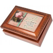 Cottage Garden Friend Woodgrain Music Box / Jewelry Box Plays Thats What Friends Are For