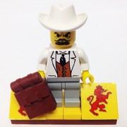 "Minifigure Packs: Lego Adventurers Jungle Bundle ""(1) Seor Palomar"" ""(1) Figure Display Base"" ""(1) Figure Accessory"""