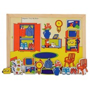 Skillofun Wooden Magnetic Twin Play Tray - The Room, Multi Color