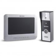 Kit videointerfon HIKVISION KIT VIDEO INTERFON ANALOGIC 4 FIRE DS-KIS202, 1 familie, 7 inch, aparent