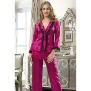 Pijama Silky Ciclam #7284