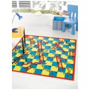 Flair Matrix Kiddy Rug - Snake And Ladder Multi - 100X190cm