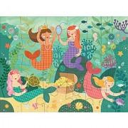 Petit Collage Floor Puzzle Mermaid Friends 24 pieces