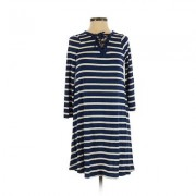 Old Navy Casual Dress - Shift: Blue Stripes Dresses - Used - Size X-Small