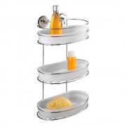 Wenko Samodržící třípatrová polička s miskami Wenko Vacuum-Loc Milazzo, nosnost až 33 kg