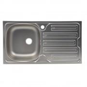 Chiuveta Franke Colibri 2'' CIL 611 Inox dekor 88360062, 780x435mm, 1B 1D, Cuva stanga