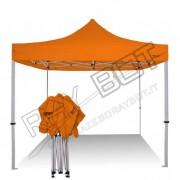 ray bot Gazebo pieghevole 3x3 arancione gambo 40x40 senza laterali. PVC 350g