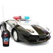 Generic Road Master Plastic Radio Control Police Car (Black/White, RV269)