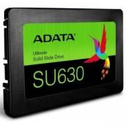SSD диск Adata 240GB SU630, SATA 6 Gb/s, 2.5 (6.35cm), скорост на четене 520 MB/s, скорост на запис 450 MB/s, ADATA SSD SU630 240GB 3D NAND